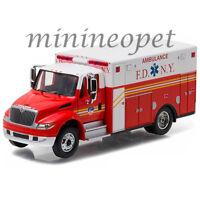 Greenlight 33070 C 2013 International Durastar Ambulance Fdny 1/64 Diecast Red