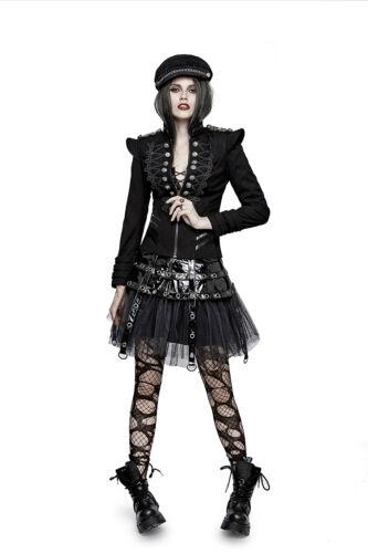 avec et 722 militaire Y Veste punk épaulettes rave courte frogging noire gothique CwYwS8q