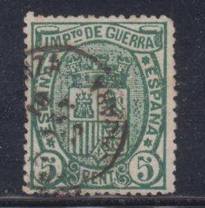 ESPANA-1875-USADO-SPAIN-EDIFIL-154-5-cts-ESCUDO-DE-ESPANA-LOTE-3