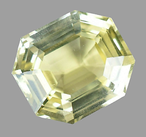Flawless 15.00Ct Natural Ceylon Stunning Yellow Sapphire Asscher Certified Gem