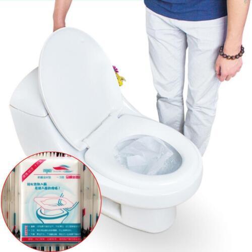 10//30//50PCS Disposable Toilet Seat Covers Paper Travel Flushable Hygienic