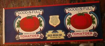 Country Store Tomatoes Can Label CM Foods Princeton Indiana