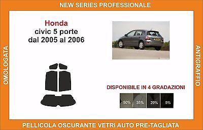 Pellicola Oscurante Vetri Auto Pre-Tagliata Honda Civic 5-Porte 2006-2011 Vetri Posteriori /& Lunotto