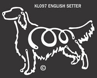 English Setter - K-lines- Made In Usa - Dog Tattoo Car Window Decal Sticker
