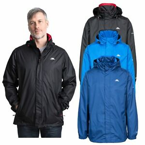 Trespass-Mens-Waterproof-Jacket-Hooded-Camping-Rain-Coat-XXS-XXXL