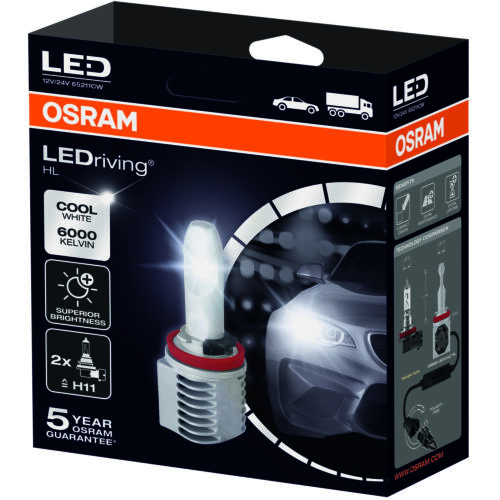 OSRAM LEDriving HL 6000K LED Car Headlight Bulbs H11 (Twin Pack) 65211CW