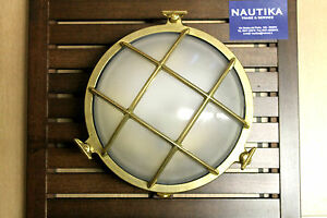 Lampada applique tartaruga ottone old marina interni esterni ø