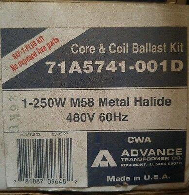 Advance 71A5741-001D 250 Watt - Metal Halide Ballast - 480 ...