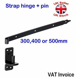 Black Strap Hinge Pin Heavy Duty Strap Hinge Door Shed