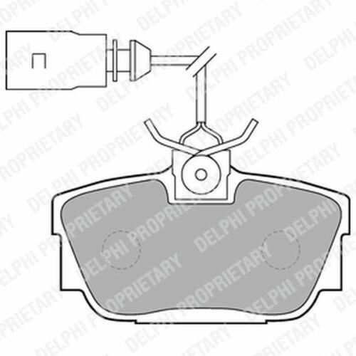 Plaquettes de frein arrière pour VW Transporter 1.9 2.0 2.4 2.5 choix 1//2 D TD TDI T4 Delphi