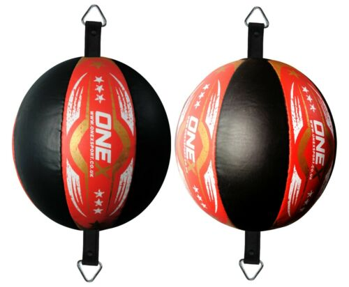 Super Punching Leather Bag /& Floor to ceiling Speed Ball with Pair Elastic Strap