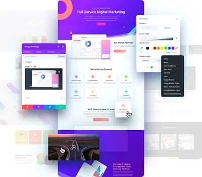 Divi Theme /& Builder by Elegant Themes lifetime license for WordPress