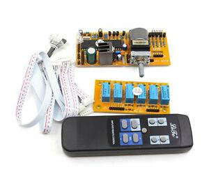 MV02-HIFI-pre-amp-4-way-stereo-Input-Motorized-Remote-Volume-Control-board-Kit