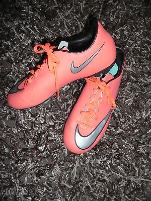 Nike Mercurial Fußballschuhe Nockenschuhe Gr. 38,5 US 6 UK 5,5 Bright Mango