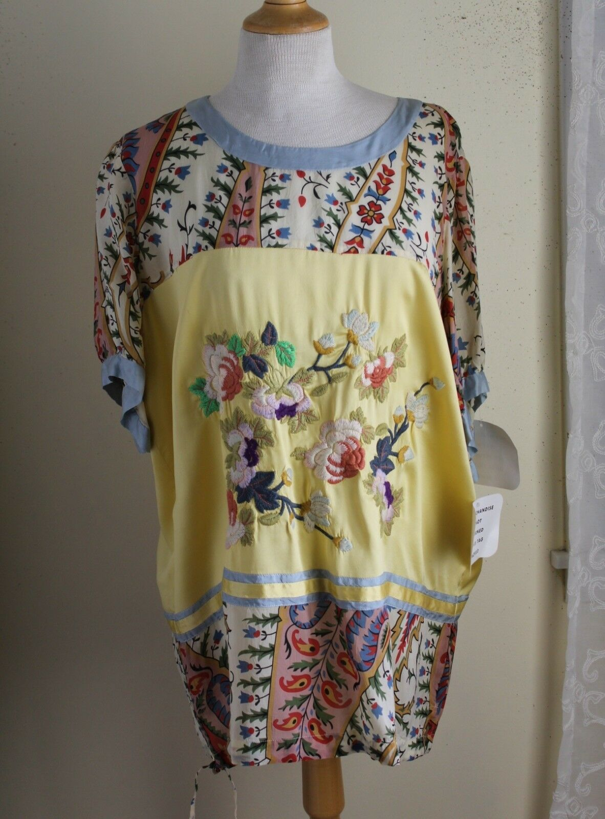 NWT Johnny Was Sz XL SOLD OUT Asian Rich Embroiderot Tunic Shirt Top UNREAL