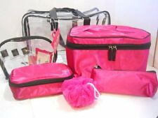 NEW CABOODLES CASE MAKEUP ORGANIZER 6 pc travel lunch box tote bag purse set