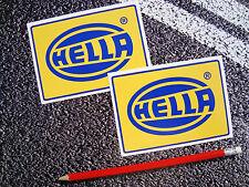 2 x Hella Adesivi Rally Auto Illuminazione Spot RS Motorsport 11cm X 7 1/2 cm