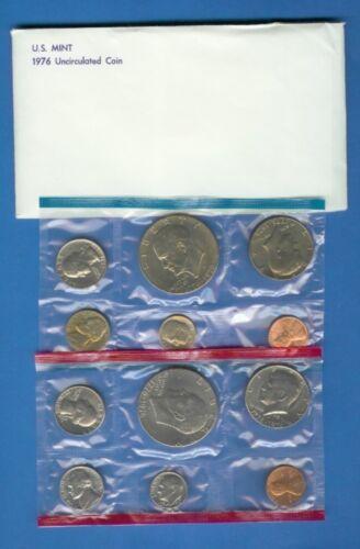 Two Eisenhower Dollars Complete 1976  Mint Set