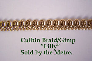"Green /& Gold upholstery Gimp//Braid 10.mm/"" Hyacinth/"". sold by the Metre Pink"