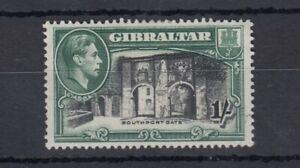 Gibraltar-KGVI-1938-1-Black-Green-SG127a-MH-Cat-75-J5082