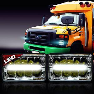 led headlight headlamp upgrade for ford super duty truck e450 e550 e350 2 pack ebay. Black Bedroom Furniture Sets. Home Design Ideas
