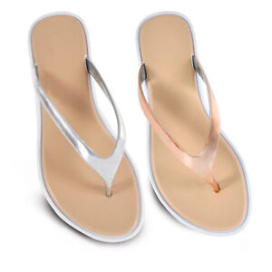 68fa78d442170 Ladies Rose Gold or Silver Flip Flops Sandals Toe Post Sizes 3-8 NEW ...