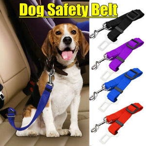 Dog-Pet-Car-Safety-Seat-Belt-Harness-Restraint-Lead-Leash-Travel-Clip-4-Color-AU