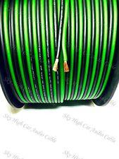 200' feet TRUE 12 Gauge AWG GREEN/BK Speaker Wire W/ SPOOL Car Home Audio ft GA