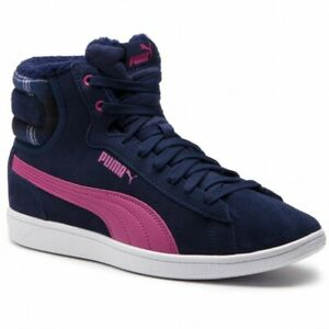 ecfc63b4fe25 Image is loading PUMA-WOMEN-039-S-VIKKY-MID-WTR-NAVY-