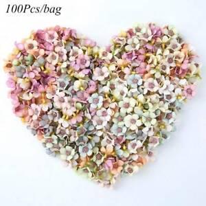 100Pcs-Multicolor-Mini-Silk-Artificial-Flowers-Daisy-Flower-Heads-for-Wreath-DIY
