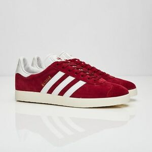 Image is loading Adidas-Gazelle-S76220-Collegiate-Burgundy-Men-Size-US-