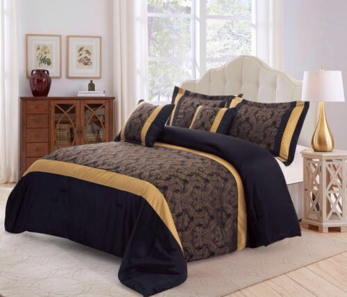 Pillow Sham New 3pc Faux Silk Quilted Bedspread,Comforter Set,Jacquard Bed set