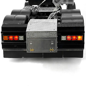 Metal Tail Beam Tail Light Toolbox Set for 1/14 Tamiya  FH16 56360 RC Truck GIV