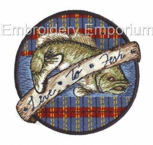 Colección de recuerdos de pesca-diseños de bordado de la máquina en CD o USB
