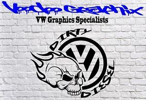 DIRTY DIESEL STICKER Car Window Bumper  VW Vinyl Sponsor Decals T5 T4