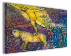 Dettagli su Quadri famosi moderni Marc Chagall vol V stampa su tela canvas  arredo poster