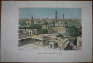 1883 Reclus print LAHORE, PUNJAB, PAKISTAN (#22)