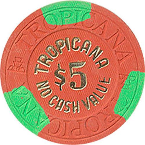 1 TROPICANA $5 NCV CASINO CHIP LAS VEGAS NEVADA HOUSE MOLD *
