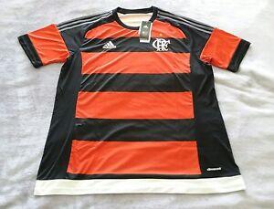 762ec673cd Details about ADIDAS Flamengo Home Soccer Jersey Red/Black B30679 Brazil  Men Sz S, M, L