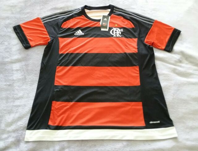 ADIDAS Flamengo Home Soccer Jersey Red Black B30679 Brazil Men Sz S ... 43c651dba
