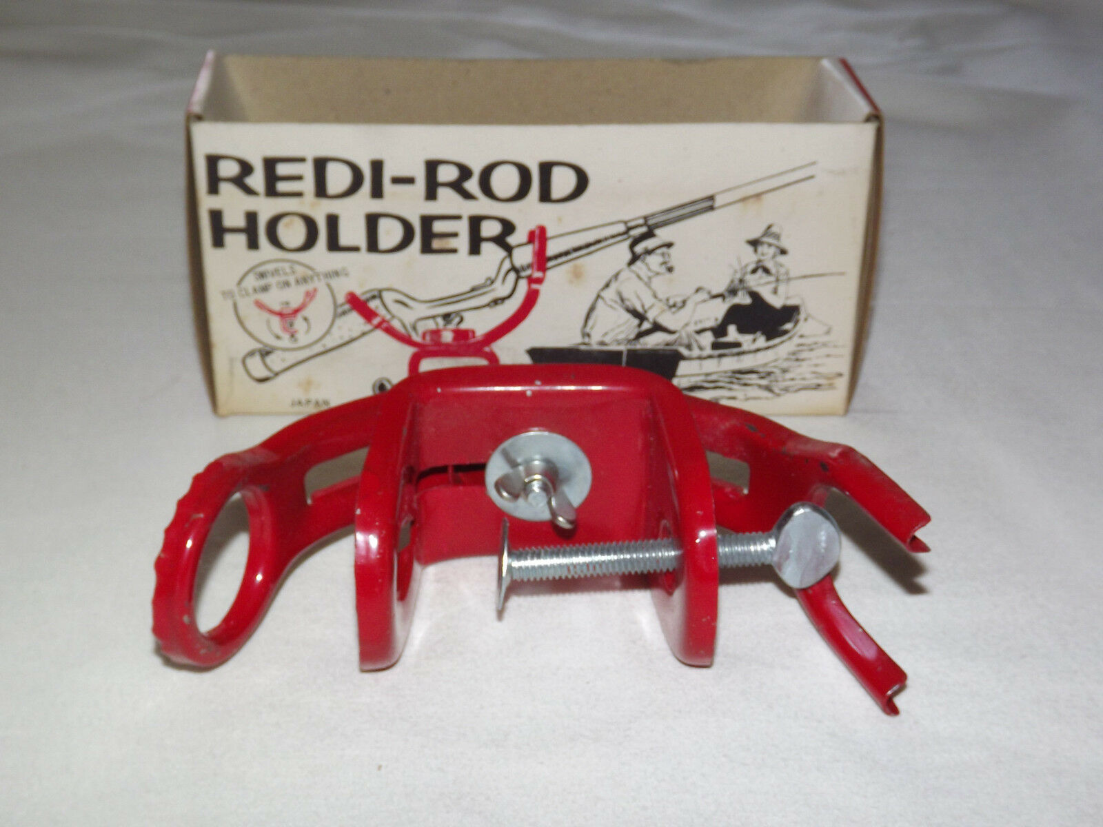 VINTAGE  1960-70S FISHING ROD BOAT IDEAL'S REDI-ROD HOLDER NEW IN BOX  official authorization