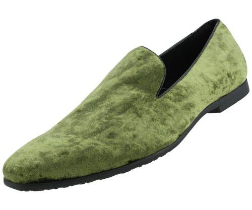 Men/'s Slippers Mens Designer and Casual Shoes Mens Crushed Velvet Loafers