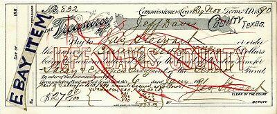 1890 Commiss Court FORT DAVIS TEXAS Treasury of Jeff Davis