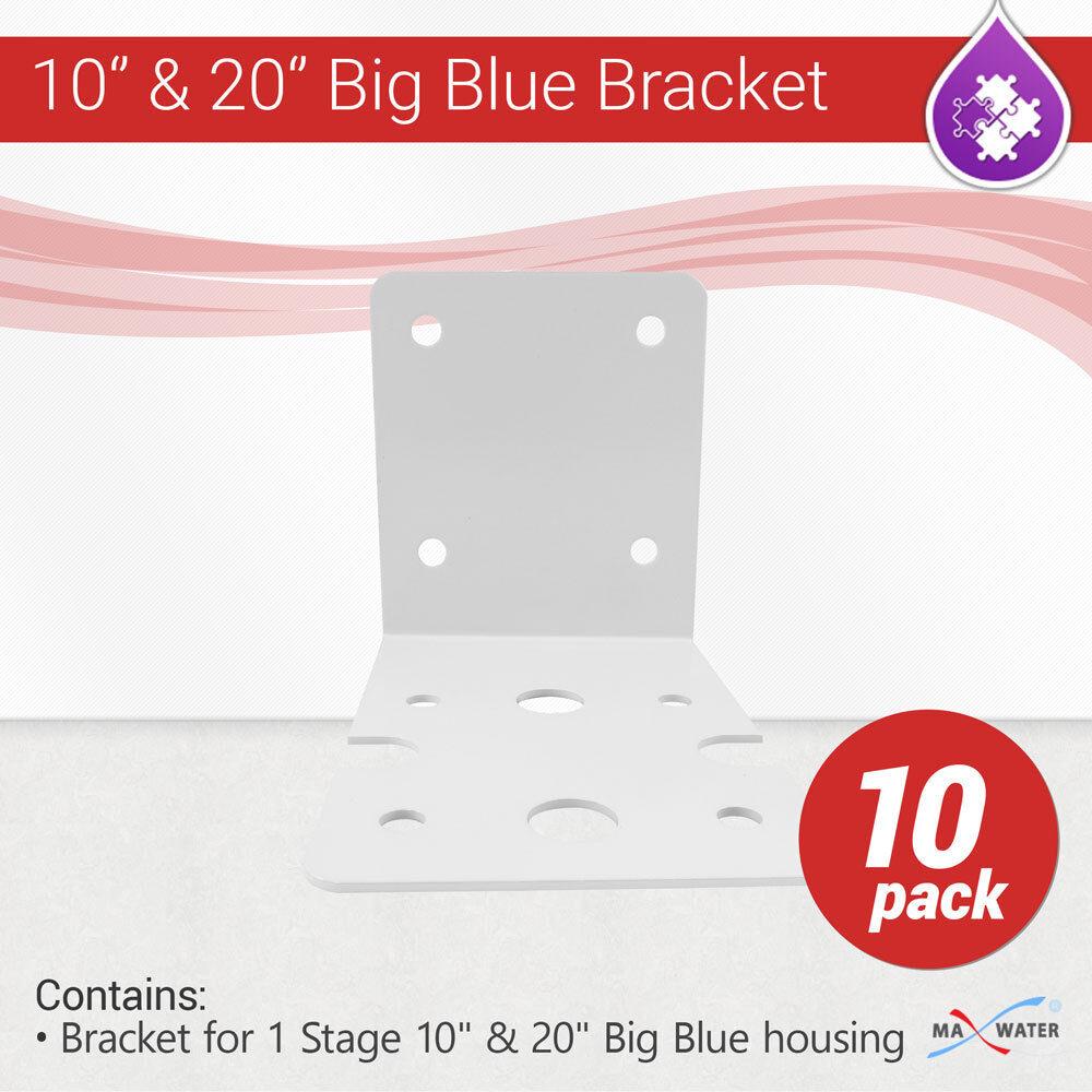 10 X Grand Bleu 20 x4.5  & 10 x4.5 BB Filtre à eau logement simple en Métal Support