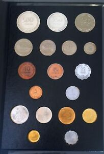 Israel-18-UNC-Coins-Set-1949-1960-039-s-Including-250-amp-500-Silver-Pruta-coins