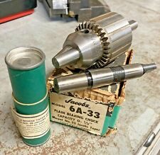 New Listingjacobs Usa 12 Drill Chuck 6a Keyed 12 Straight Shank Amp Mt 2 Morse Taper Shank