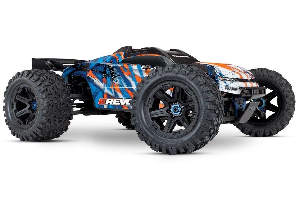 Traxxas E-Revo VXL 2.0 RTR Camión Monstruo eléctrica 4WD (naranja) - TRA86086-4-ORG