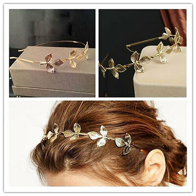 Fashion Summer Women Lady Metal Leaves Head Chain Jewelry Headband Hair Band