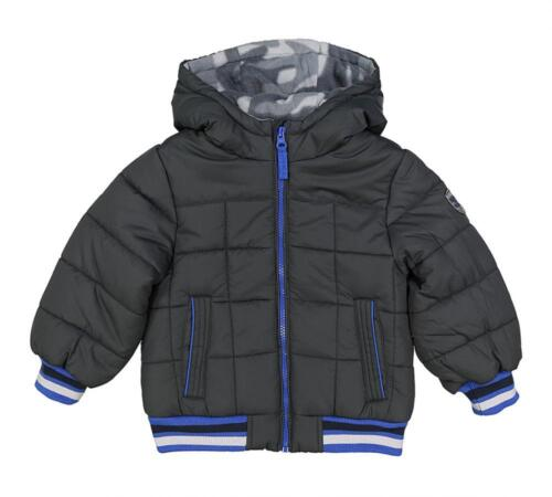 Osh Kosh B/'gosh Infant Boys Dark Grey /& Blue Puffer Coat Size 12M 18M 24M