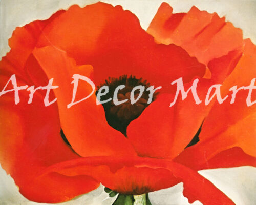 Red Poppy-O/'Keeffe CANVAS OR PRINT WALL ART